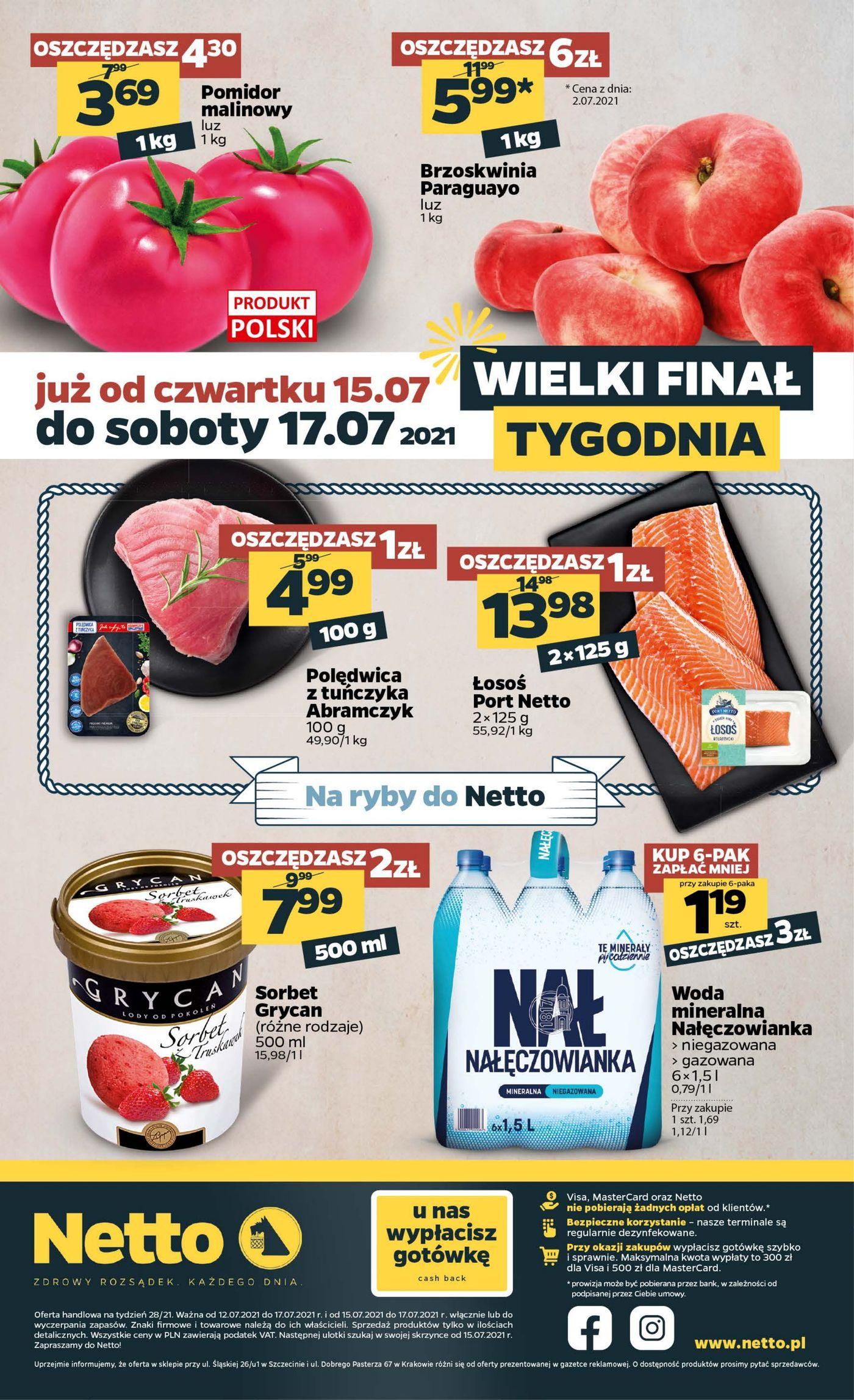 Gazetka Gazetka spożywcza Netto t. 28/21