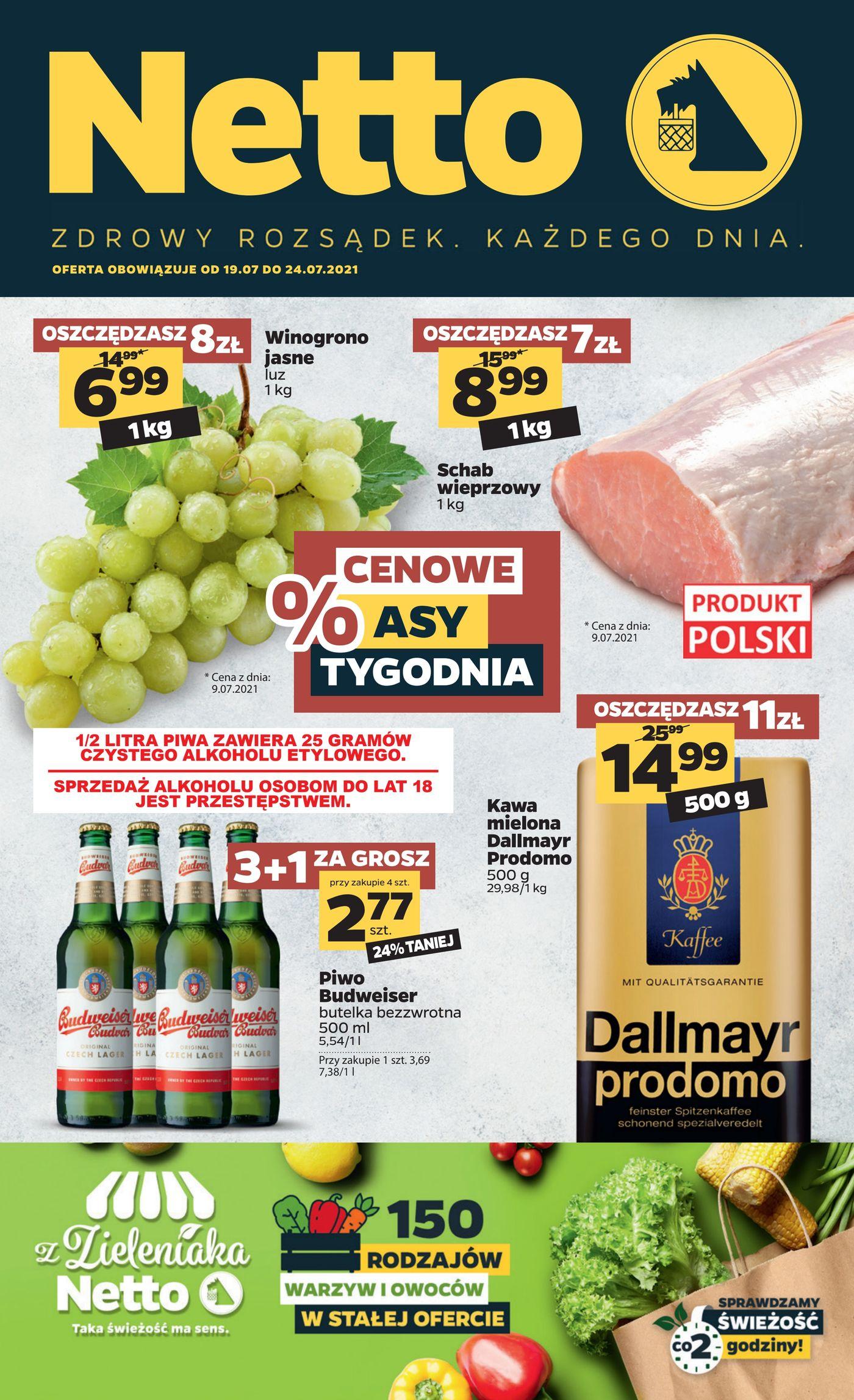 Gazetka Gazetka spożywcza Netto t. 29/21