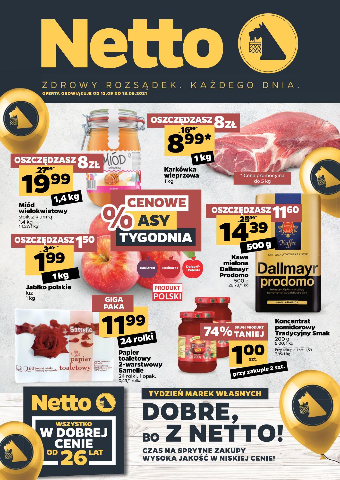 Gazetka Gazetka spożywcza Netto t. 37/21
