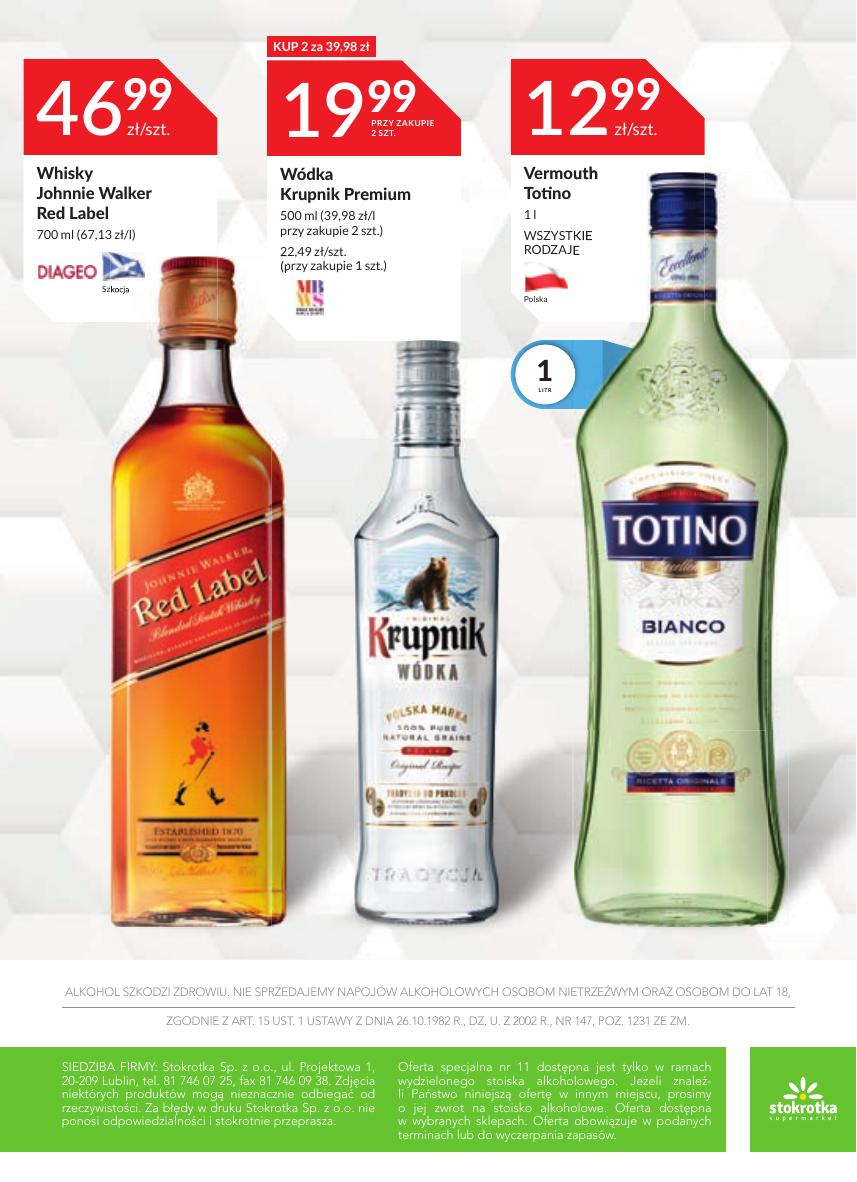 Gazetka Oferta alkoholowa