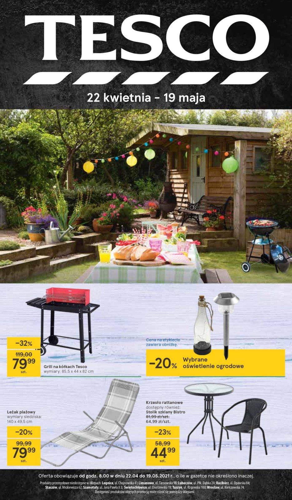 Gazetka Tesco katalog Ogród